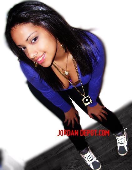 sexy girl wearing jordans
